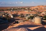 view over Coober Pedy town