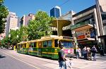 tramway, downtown Melbourne