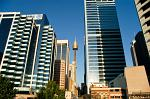 city architecture, Sydney Tower in the centre