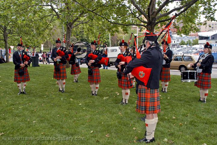 Scottish piper band, Hobart