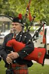 Scottish piper musician, Hobart
