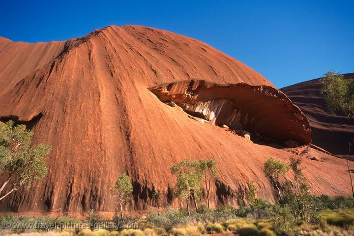 Uluru, Ayers Rock, a sacred mountain to the Aboriginal people