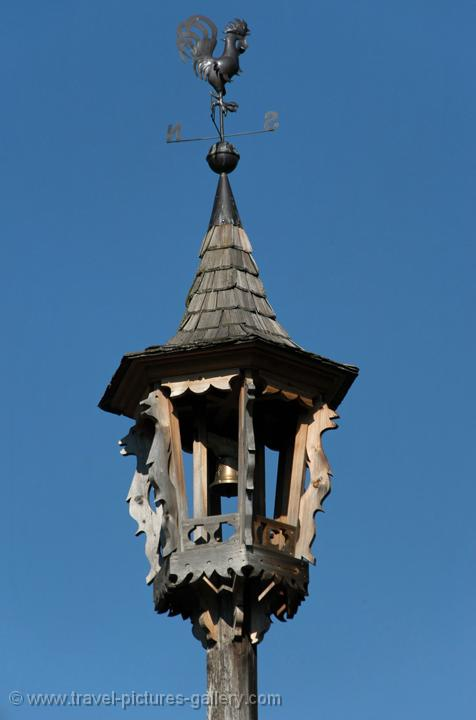 traditional wooden bell tower