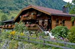 Pictures of Austria - Countryside - Mountains - house with geraniums, Fusch am Grossglocknerstrasse, Tirol, Hohe Tauern