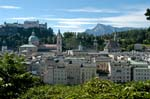 Pictures of Austria - Salzburg - view over the city from the Kapuzinerberg