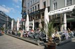 outdoor cafe at Graben, the main shopping street