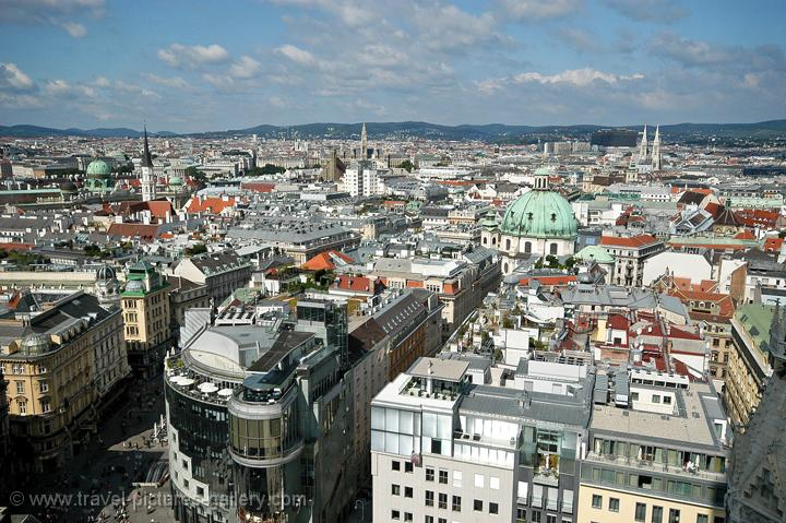 Pictures of Austria - Vienna - view over the city from St. Stephen's Cathedral (Stephansdom)