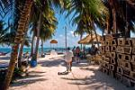 busy day at Caye Caulker pier