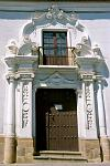 church entrance, Spanish colonial architecture