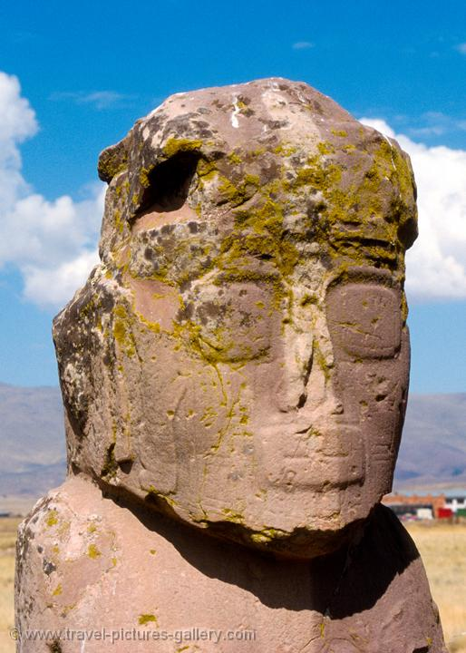 Pictures of bolivia tiahuanaco carved stone head