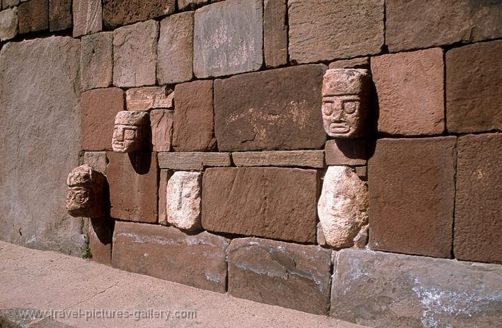 Pictures of bolivia tiahuanaco carved stone heads