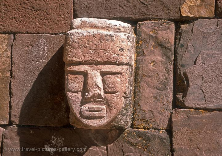 Pictures of bolivia tiahuanaco carved stone tenon