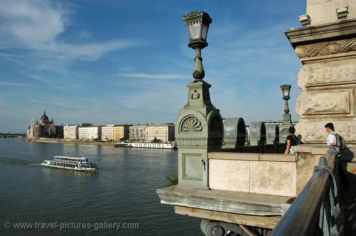 Pictures of Hungary - Budapest - view from the Chain Bridge, Danube River