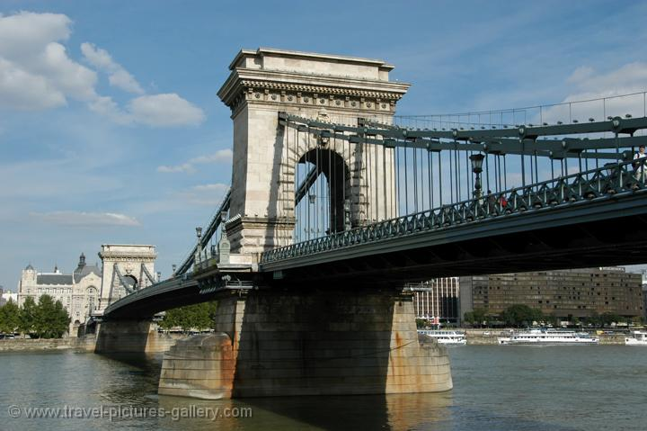 the Chain Bridge is one of Budapest's most famous landmarks