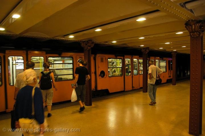 Pictures of Hungary - Budapest - the Metro is the second oldest in Europe