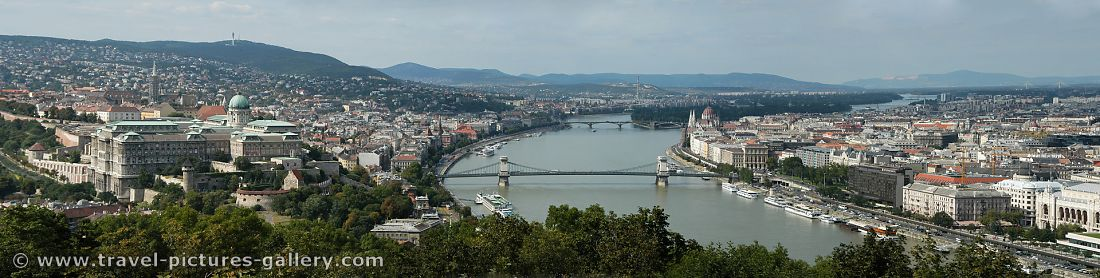 panoramic view from Gellert Hill, Buda on the left, Pest on the right