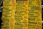 menu at a restaurant, Great Market Hall