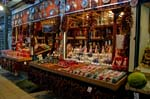Pictures of Hungary - Budapest - porcelain and trinket stall. Great Market hall