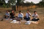 war victims making traditional Khmer music