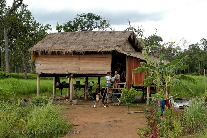 Traditional Wooden House On Stilts In The North