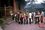 worshippers at the Wenshu Monastery