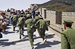 soldiers of the PLA running