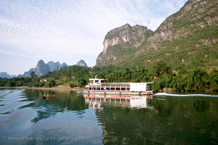 the boat trip from Guilin
