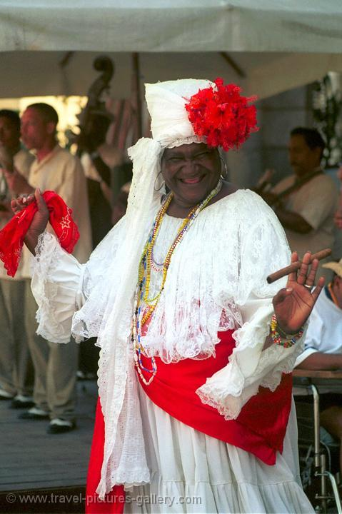 Afro-Cuban lady, Havana, traditional dress
