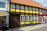 historic houses in Ribe, the oldest town in Denmark