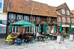 historic house, outdoor cafe, Ribe