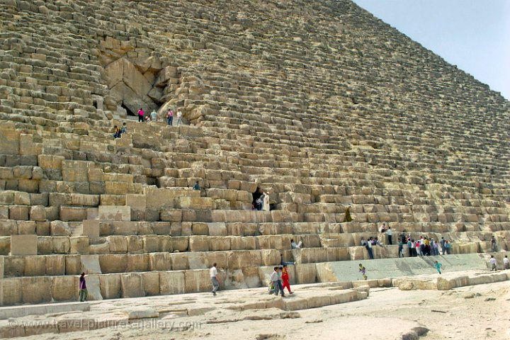 entrance of the Pyramid of Cheops (Khufu)