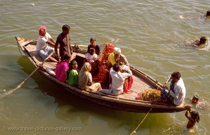 wedding ceremony on the River Ganges, Varanasi, India