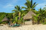 relaxing at a beach resort on Waya, one of the Yasawa Islands