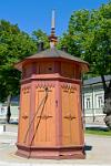 wooden kiosk in the Old Town