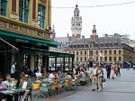 outdoor cafe, town hall, Lille