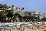 the beach and boulevard at Cannes