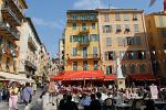 outdoor cafes and restaurants, Nice old town