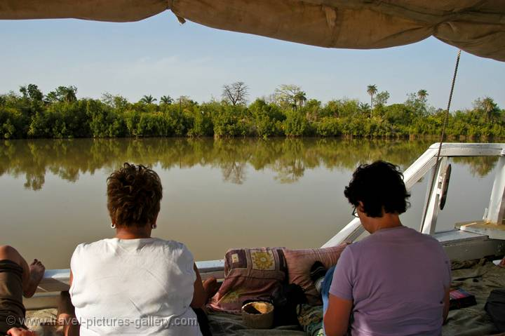 on a Gambia River trip