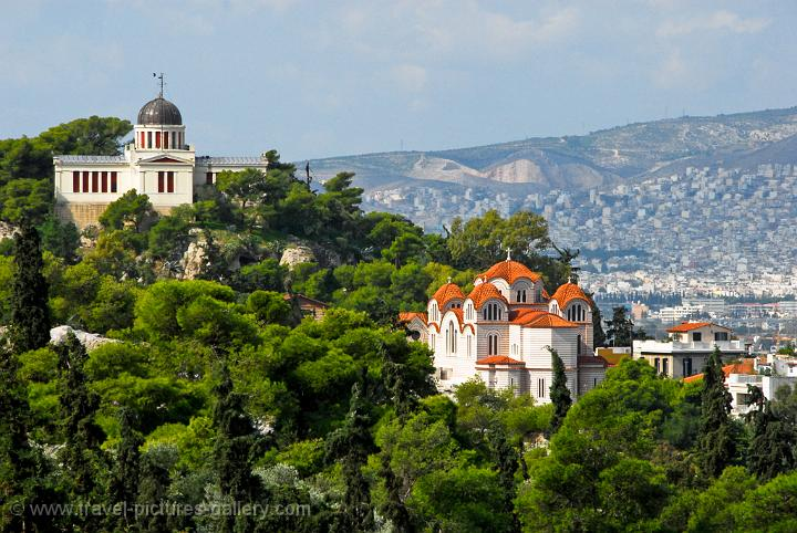 churches on the hill above the Ancient Agora