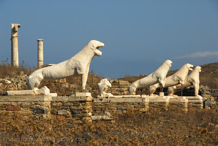 Pictures of Greece - Delos-0003 - the Terrace of the Lions