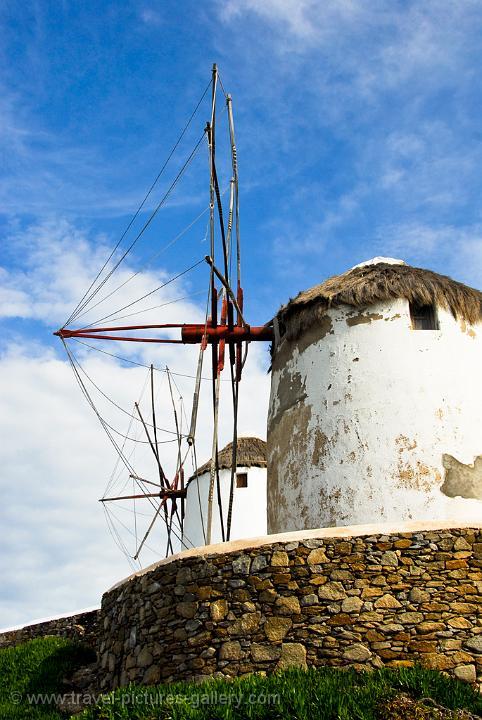Pictures Of Greece Mykonos 0067 Windmills Hora