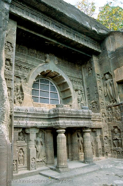 the Buddhist caves of Ajanta