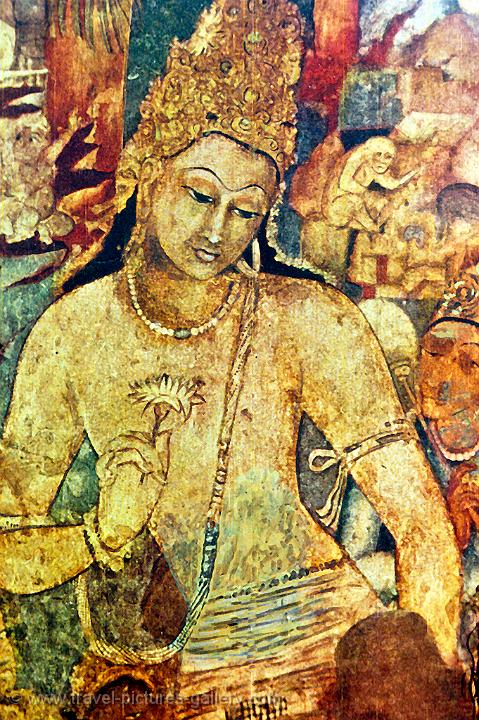painting at the Ajanta Caves