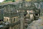 the Kailasa (Kailash) Temple at Ellora, 750 AD