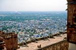 the view over the city from the Meherangarh Fort