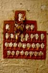 at the fort, hands symbolising the Maharaja's wives following him at the funeral pyre