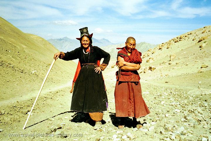 Pictures of india ladakh local people traditional dress likir