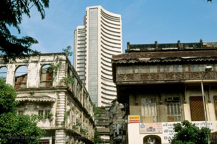 old and new, the Mumbai Stock Exchange