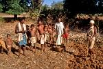 in an Adivasi tribal village, indigenous people of India