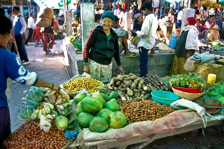 fruit an vegetables at the market